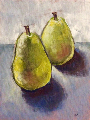 A pare of pears - SOLD